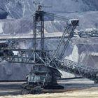 mine de lignite à ciel ouvert en Allemagne.